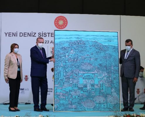 Devrim Erbil tablosu hediye etti